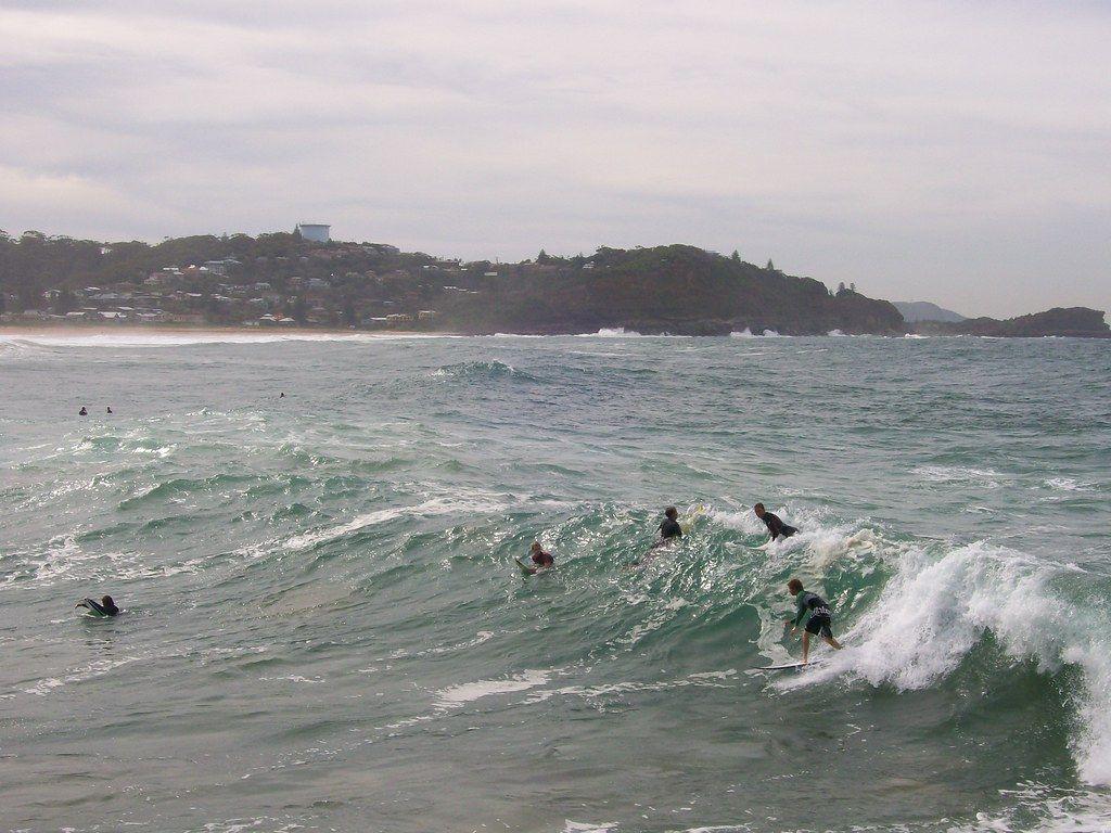Surfing Avoca Beach