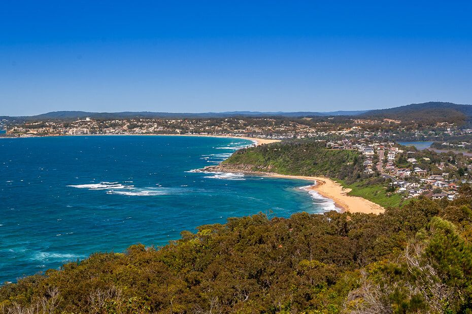 View of forresters Beach and Terrigal