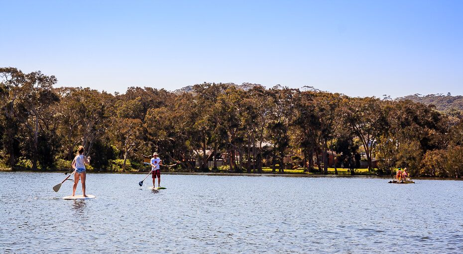 Stand up paddle boards Avoca Lake