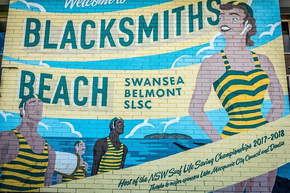 Swansea Belmont SLSC beautiful mural