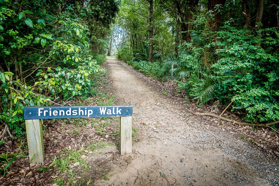 Friendship Walk, the boardwalk along Caroline Bay.