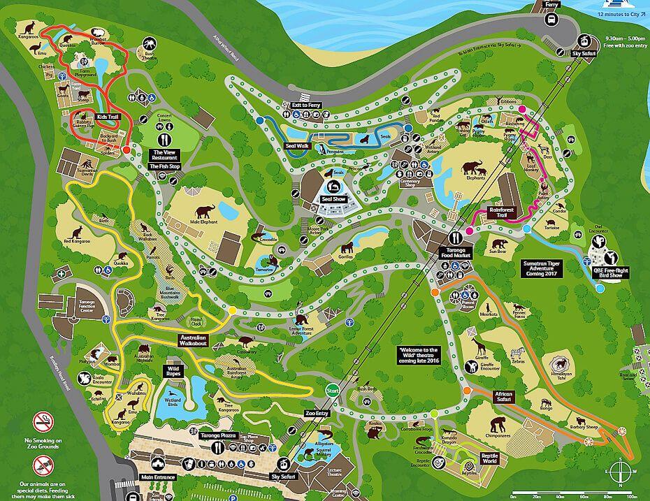 map Taronga Zoo