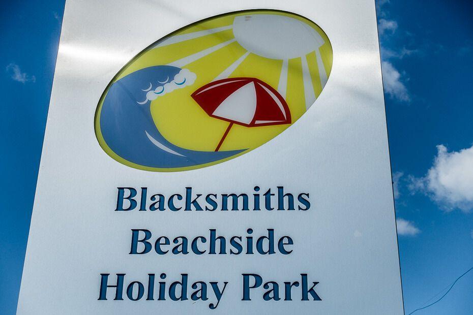 Sign Blacksmiths Beachside Holiday Park