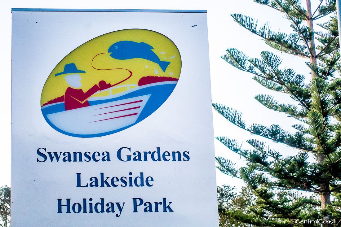 Sign Swansea Gardens Lakeside Holiday Park - Accommodation Lake Macquarie