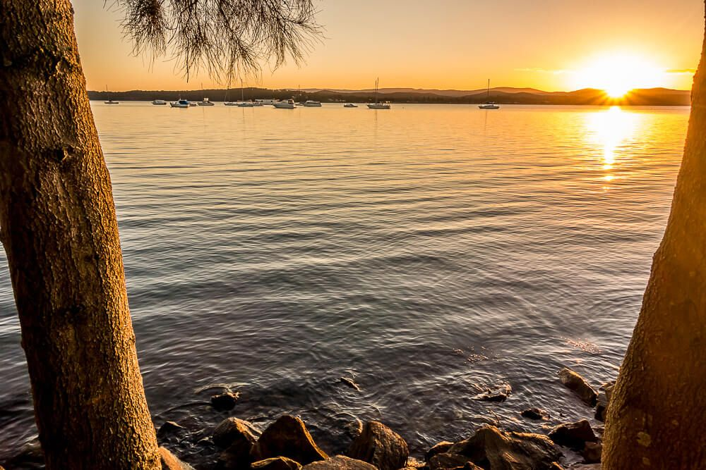 Sunset over Lake Macquarie