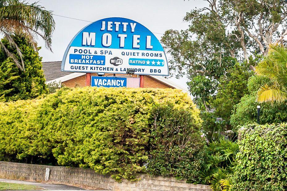 motel signpost
