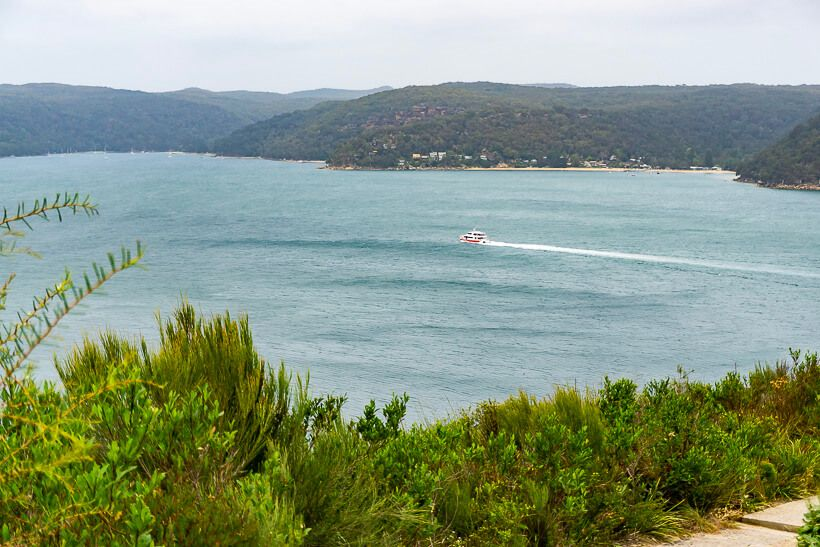 Palm Beach Ferry view from Barrenjoey Headland
