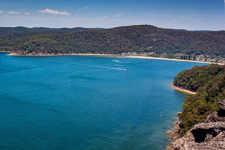 Patonga Beach seen from a lookout on the Patonga to Pearl Beach walking trail.