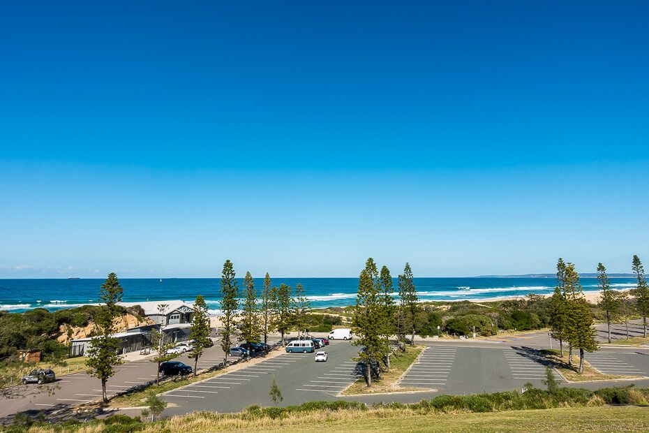 Large carpark at the beach