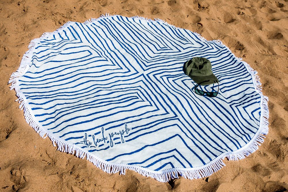 the round towels by The Beach People