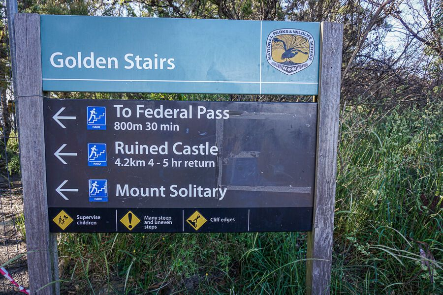 Golden Stairs sign