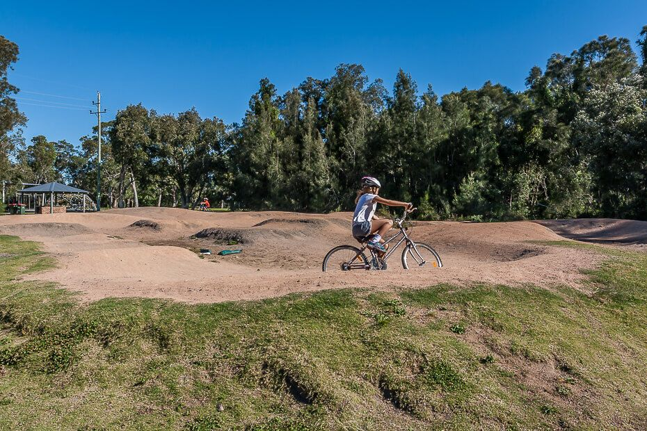 BMX track, Long Jetty, Saltwater Creek Reserve