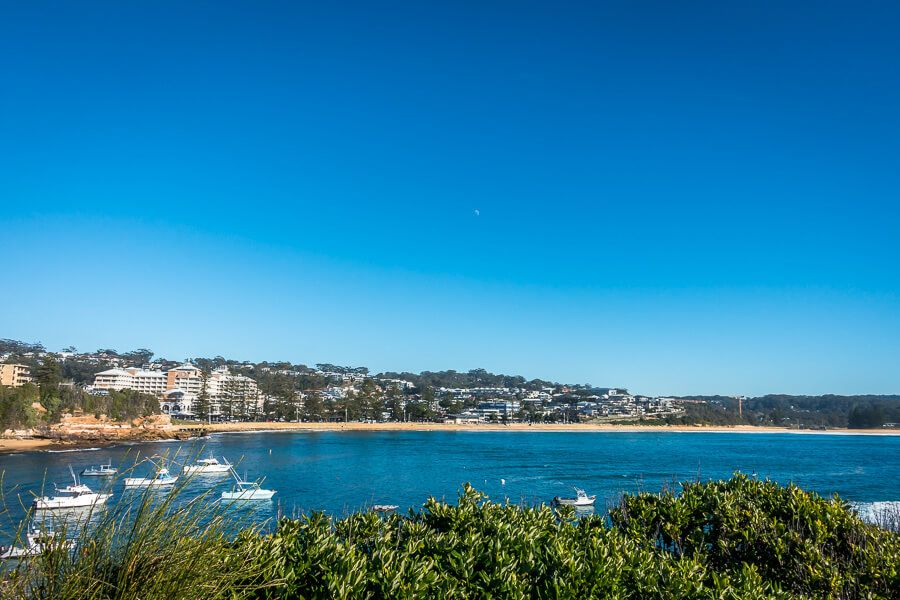 View of Terrigal Beach from a lookout on Broken Head