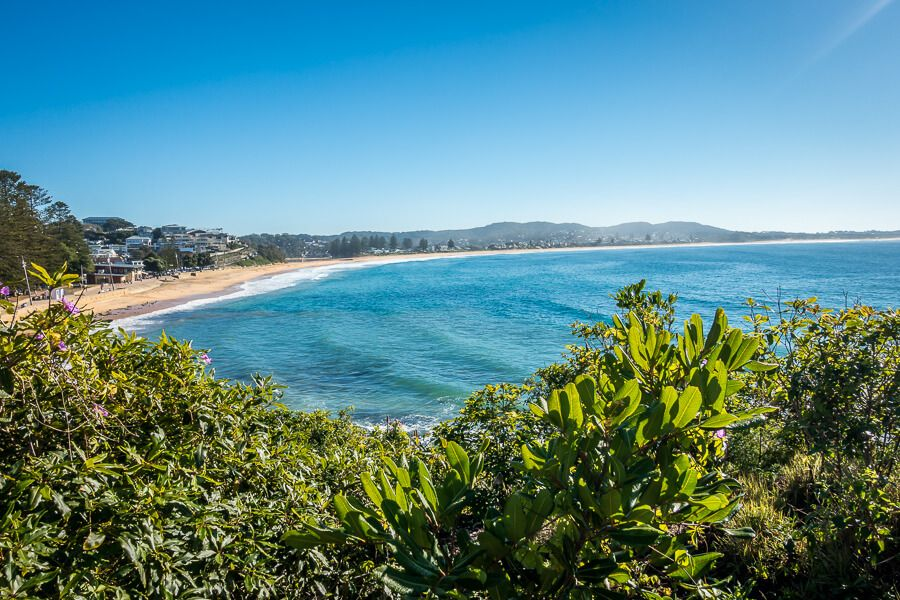 View of Terrigal Beach from the walkway