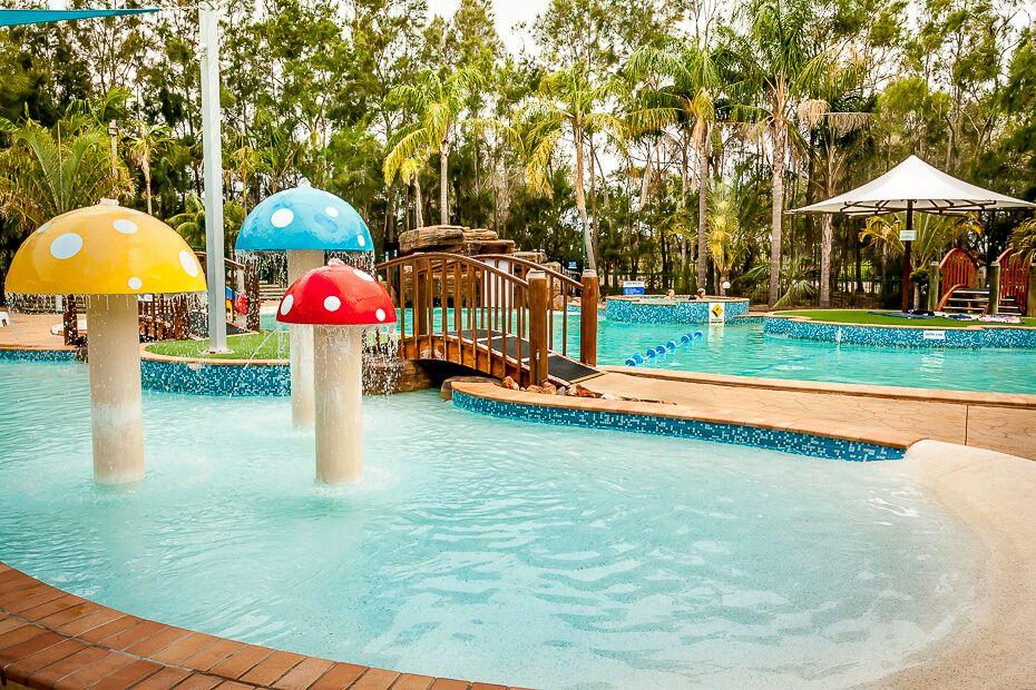 Resort pool at NRMA Ocean Beach Resort & Holiday Park