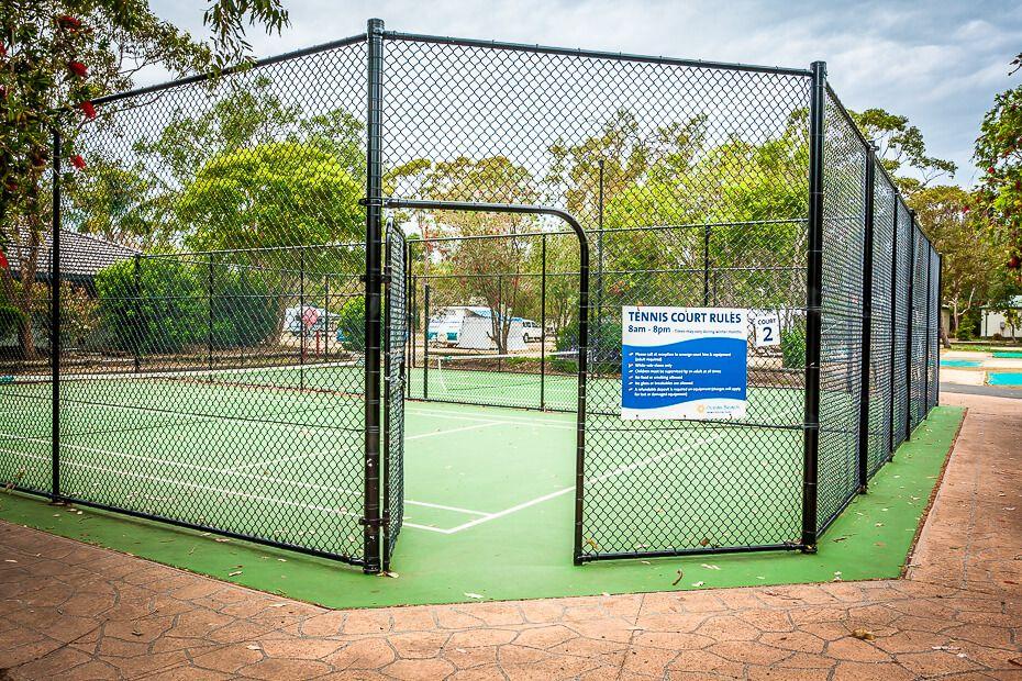 Half tennis courts