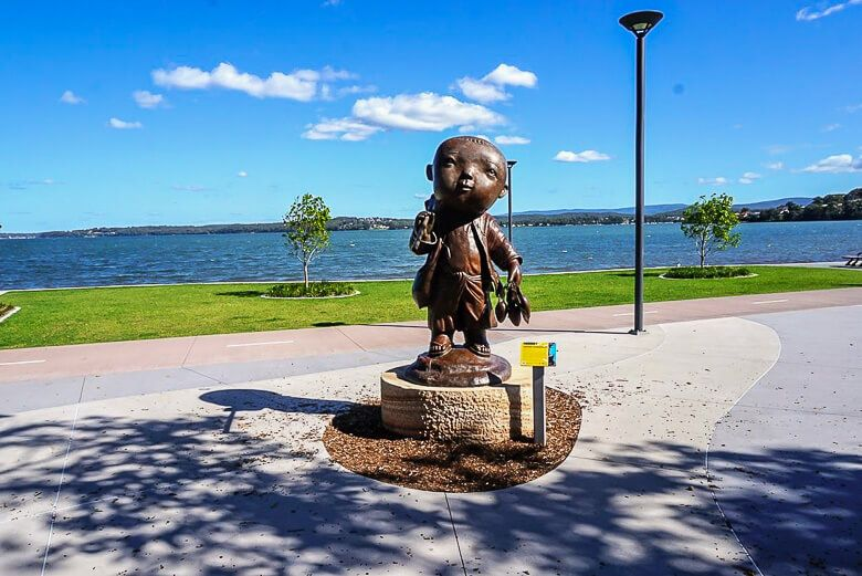 Warners Bay foreshore statues