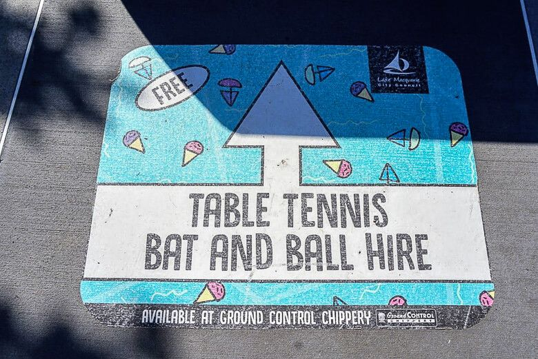 Warners Bay foreshore table tennis