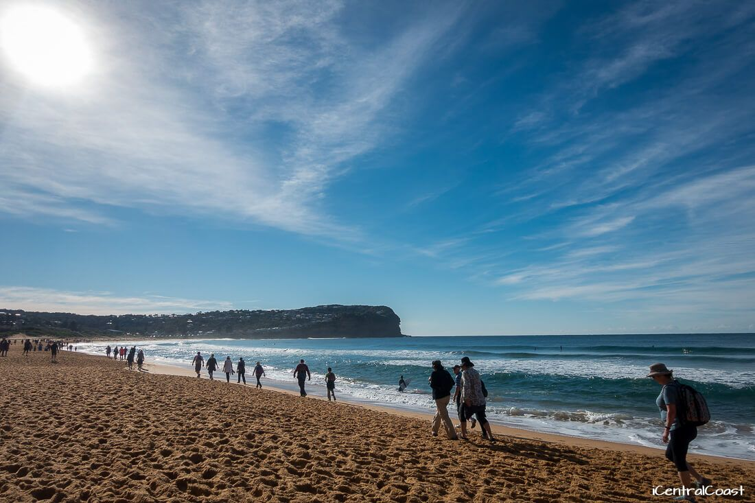 Walking on the beach at Macmasters Beach