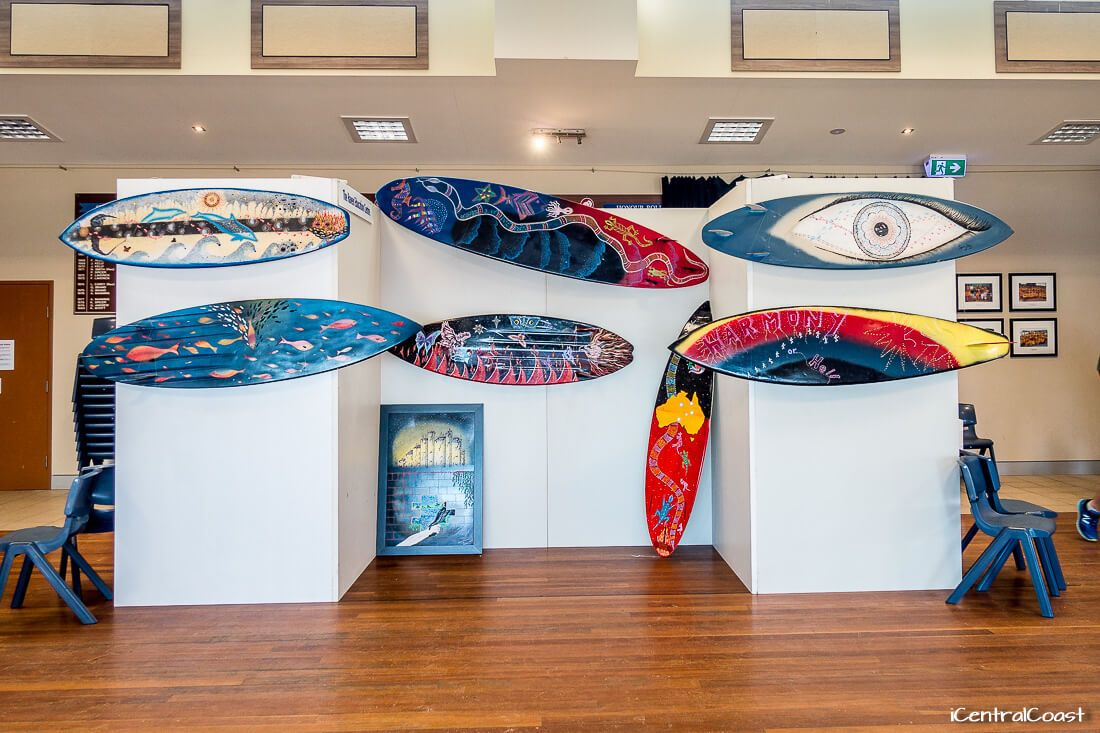 Art exhibition at Copacabana Surf Life Saving Club