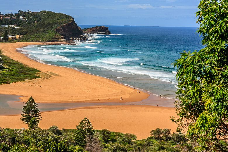 Avoca Beach and North Avoca Beach view from the lookout