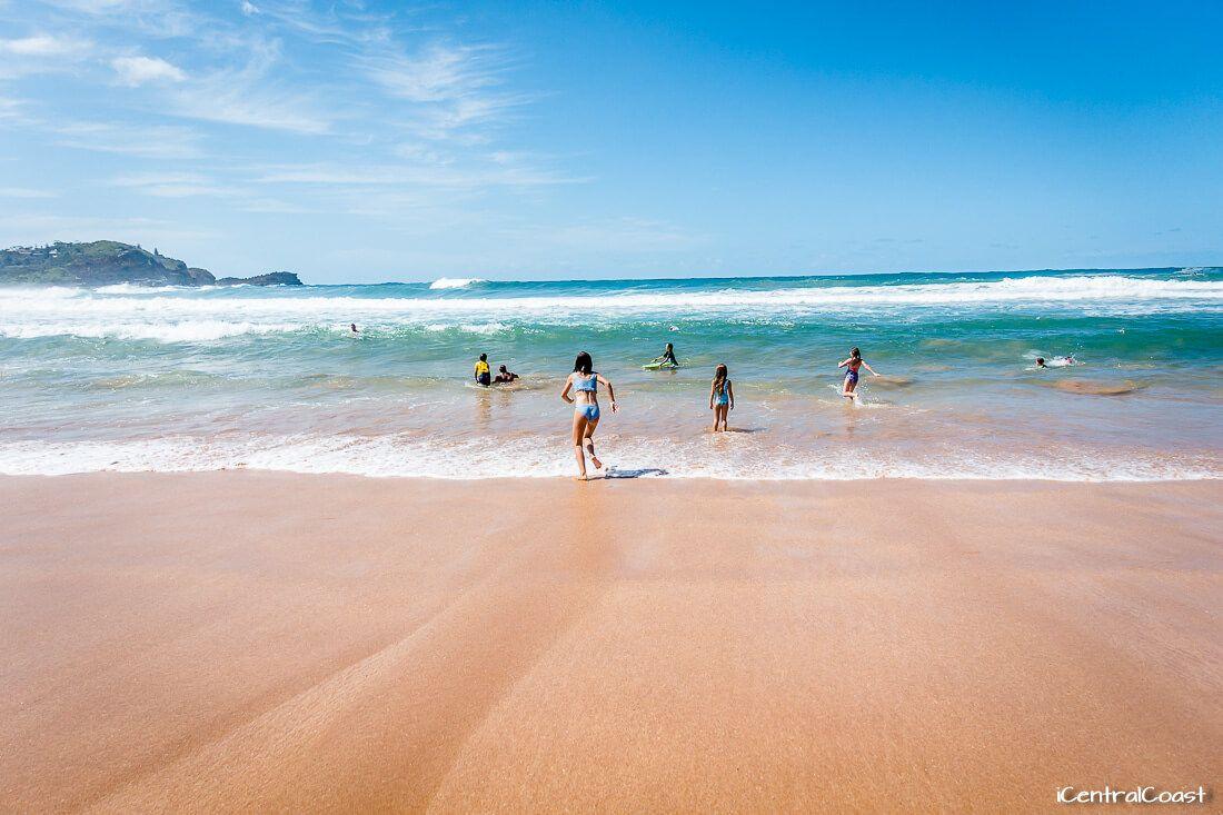 The beach at Avoca NSW