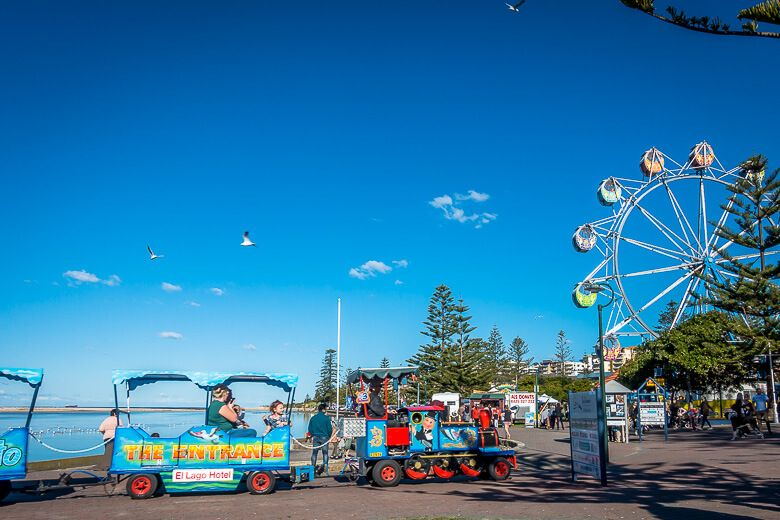 The Entrance - train and Ferris wheel