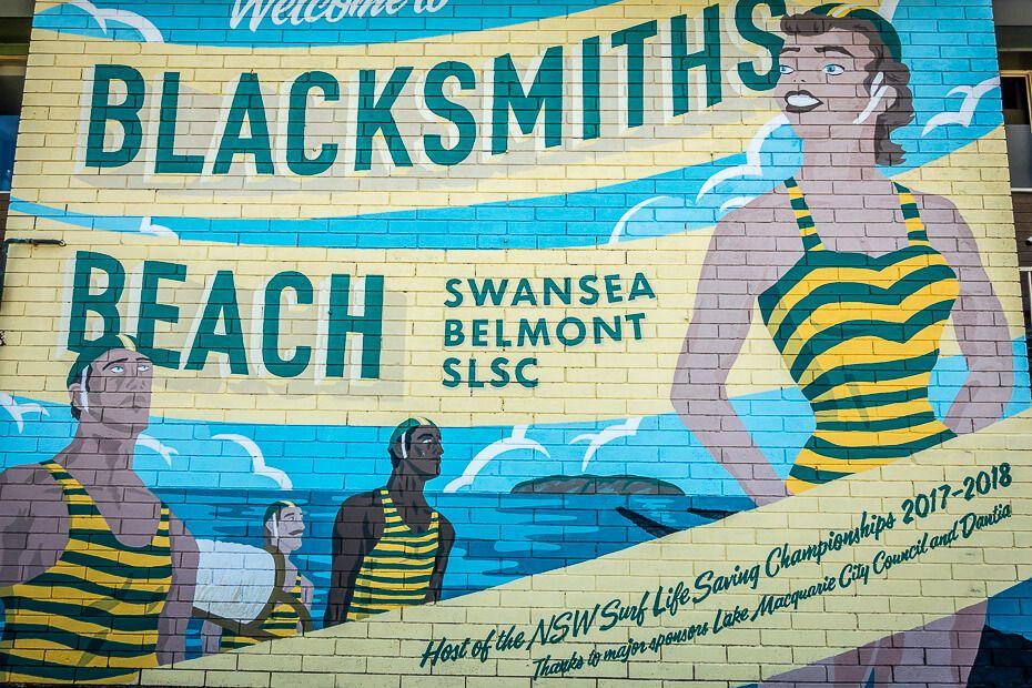 Swansea Belmont SLSC beautiful mural