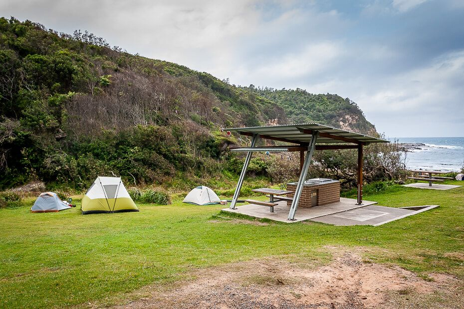 Little Beach camping in Bouddi National Park