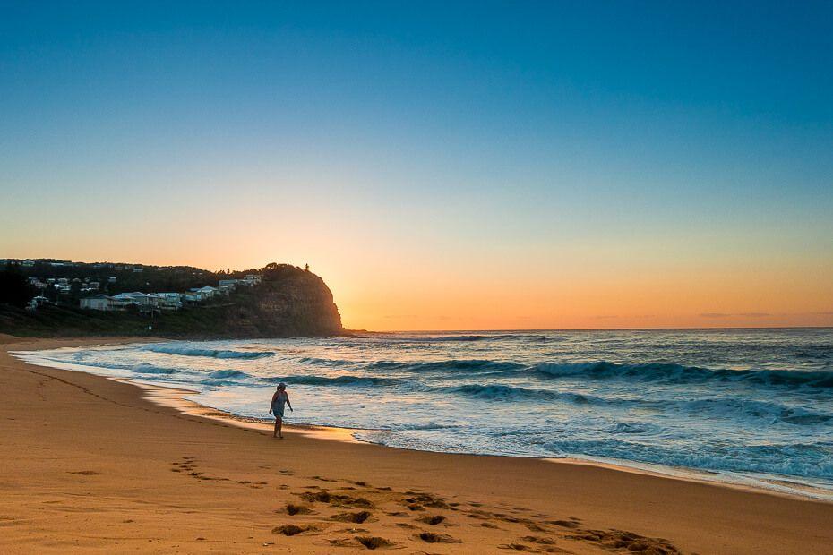 Copacabana Beach NSW sunrise