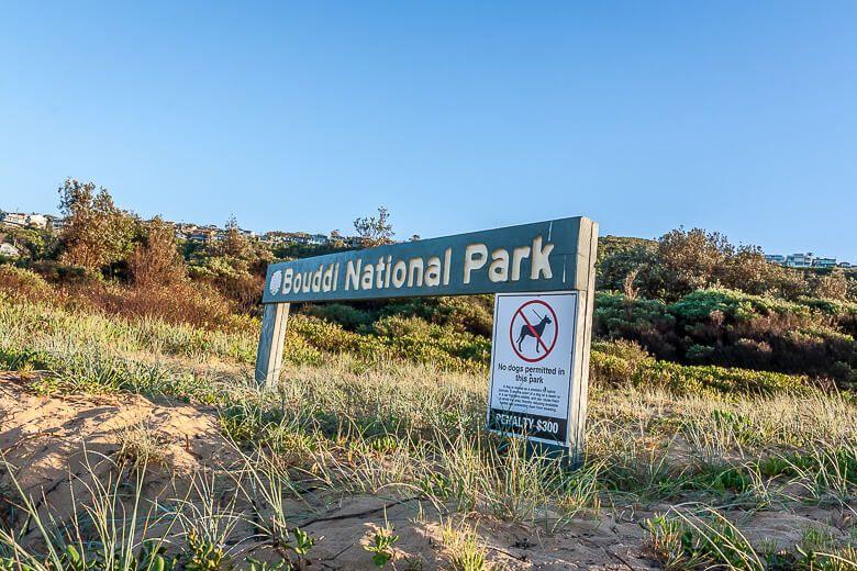 Bouddi National Park sign