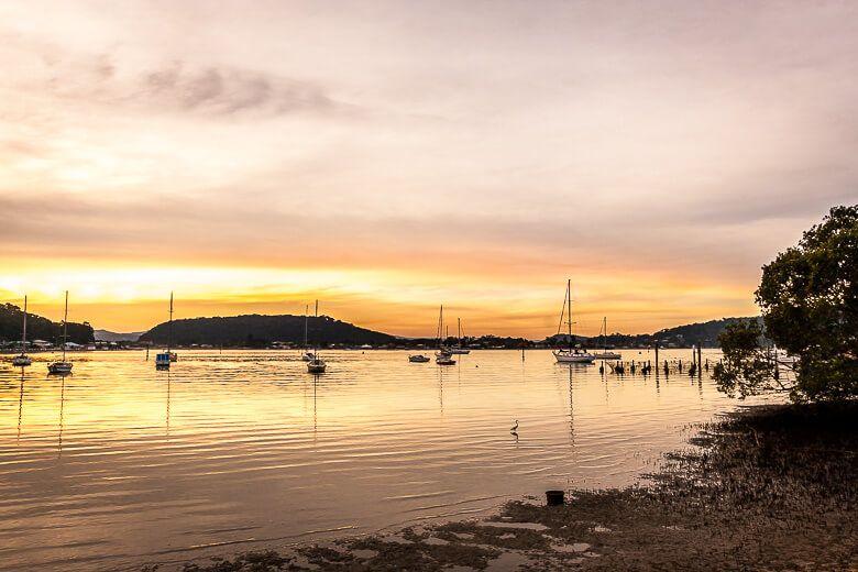 Beautiful sunset at Hardys Bay