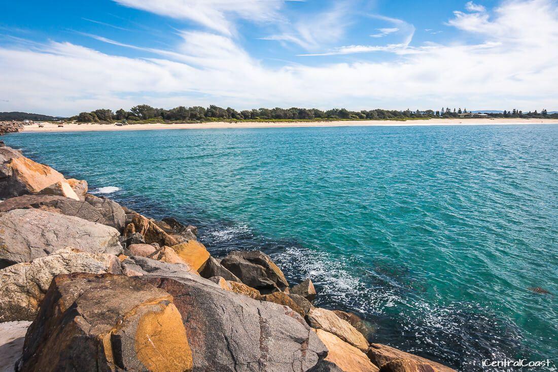 Blacksmiths Beach at Lake Macquarie