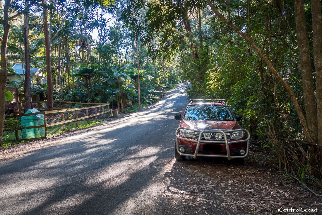 Parking the car on Grahame Dr, Macmasters Beach
