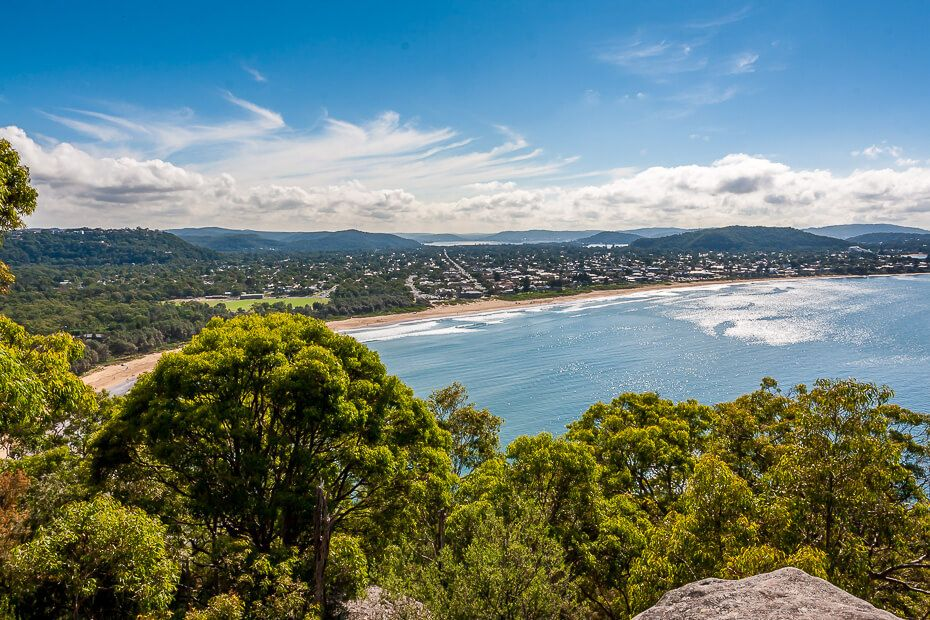 View of Umina-Ocean Beach from Mount Ettalong Lookout