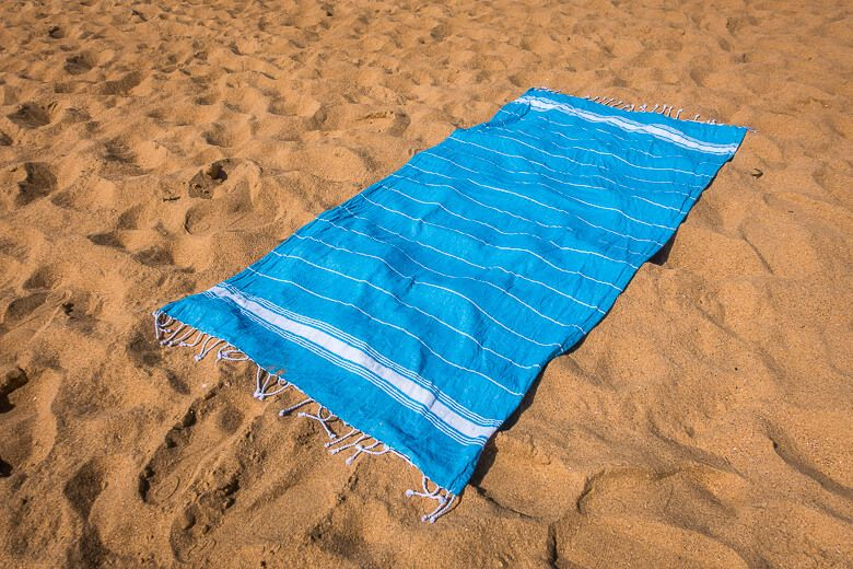 Turkish Towel by Nicola Spring in light blue