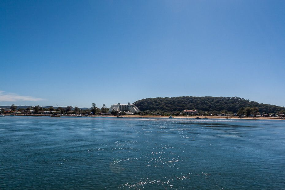 View of Ettalong and the Mantra from Brisbane Water.