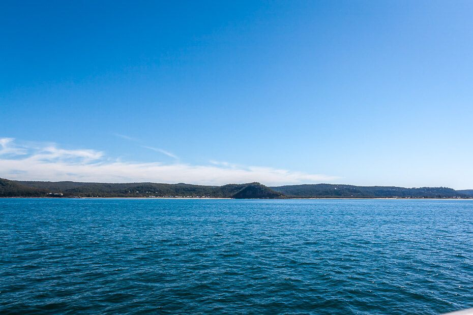View of Umina and Pearl Beaches from the ferry in Broken Bay.