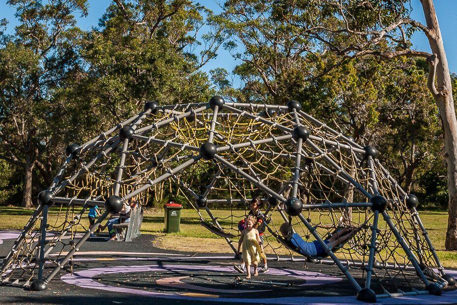 climbing web playground Saltwater Creek Reserve