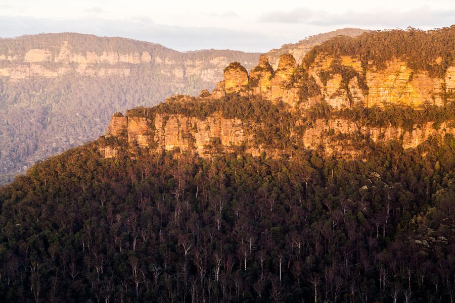 View of the Three Sisters from Sublime Point Lookout
