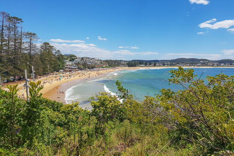 Terrigal view of the beach