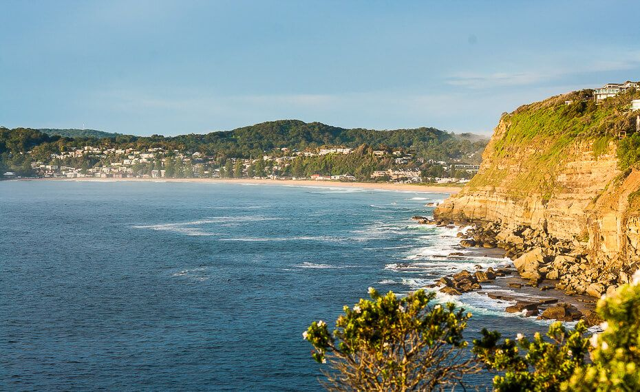 View of Avoca Beach from the Skillion