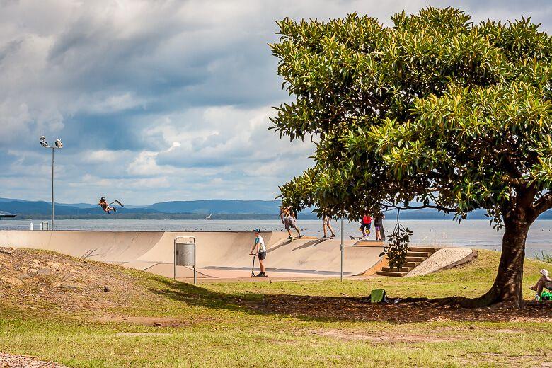 Skateboard park The Entrance