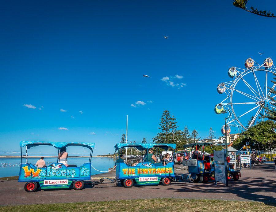Kids rides at Memorial Park