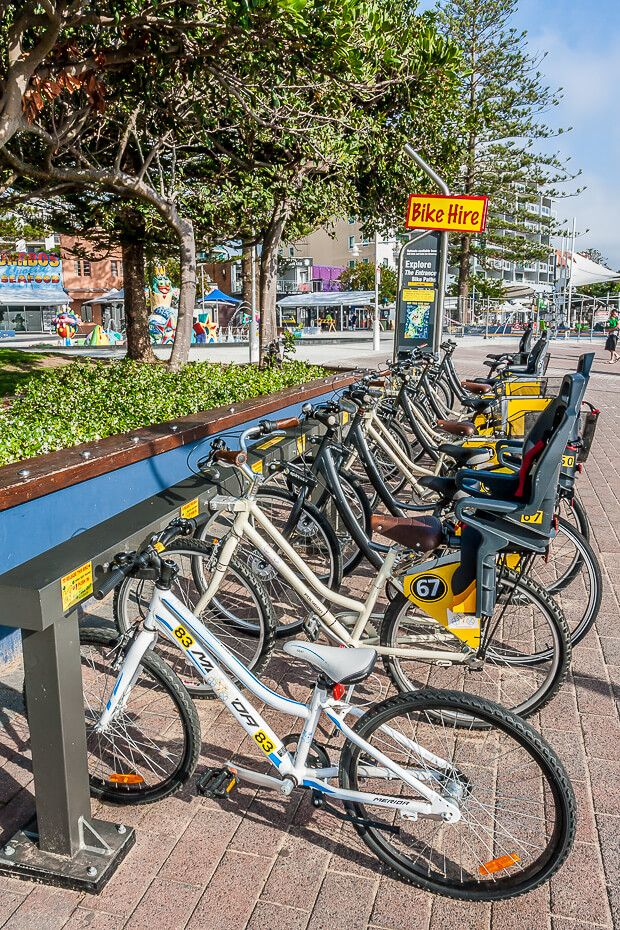 The Entrance Boomerang bike hire station