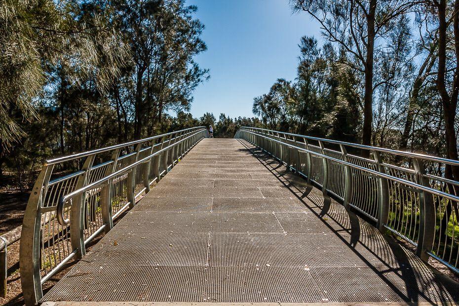 Cycle trail - crossing the bridge