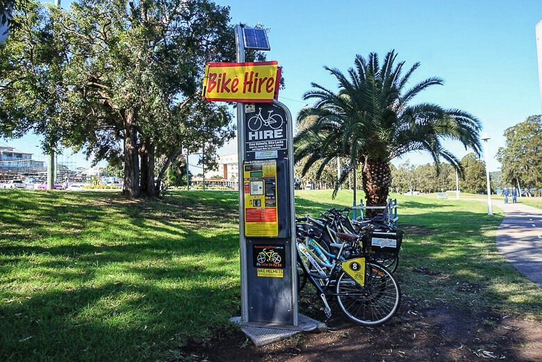 Warners Bay hire a bicycle
