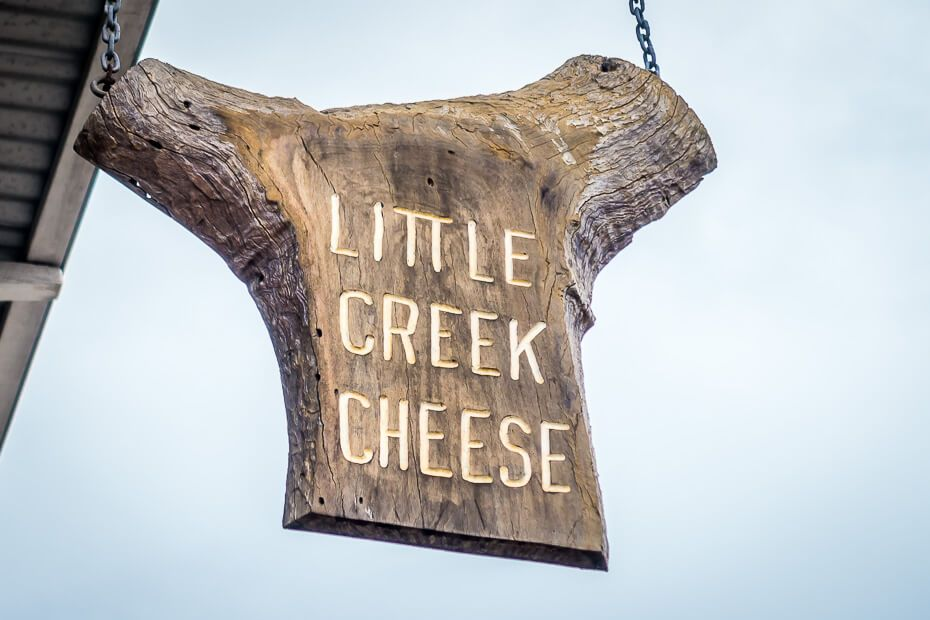 Little Creek Cheese sign